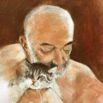 Homme au chat