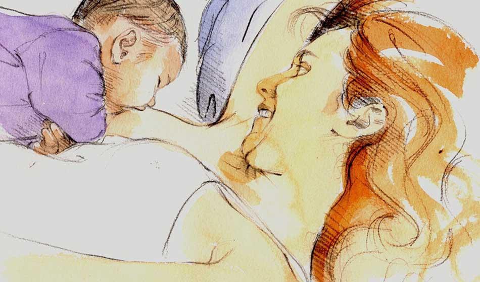 Sommeil du bébé allaité et de la mère qui allaite, Paris