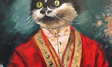 Chat, portrait royal