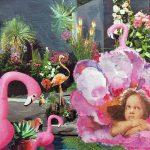 Chérubin aux flamants roses
